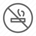 cigarette, no, smoking icon