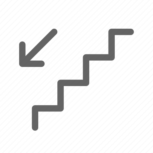 down, staircase, stairs icon