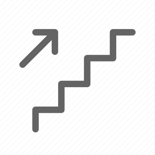 staircase, stairs, up icon