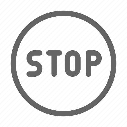 road, sign, stop icon