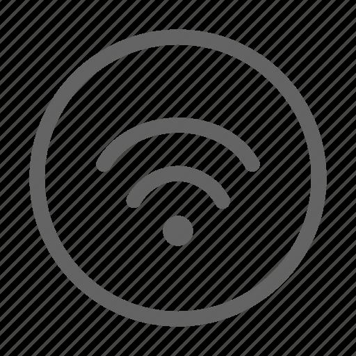 public, sign, wifi icon