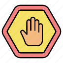 gesture, hand, sign, stop icon