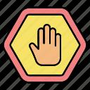 gesture, hand, sign, stop