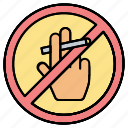 forbidden, hand, no, prohibited, smoking icon