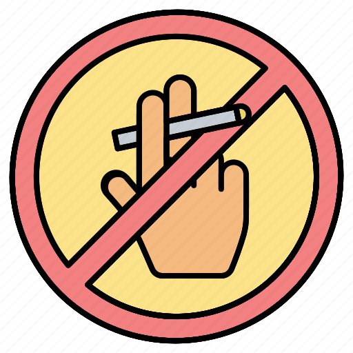 forbidden, hand, no, prohibited, smoking icon