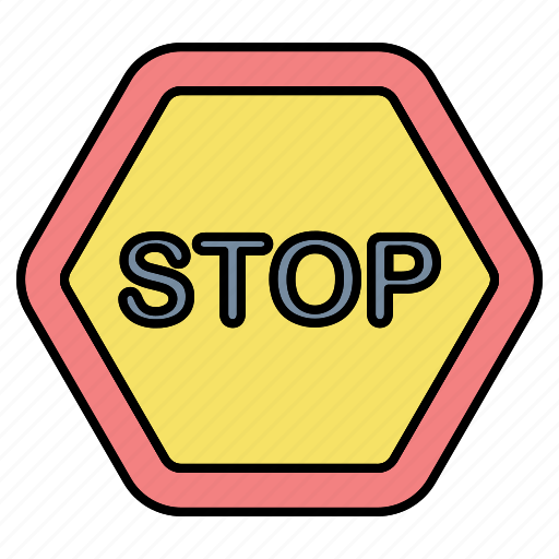 board, danger, sign, stop icon