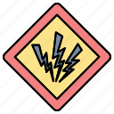 danger, high, sign, voltage, zone