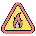 fire, flame, flammable, sign icon