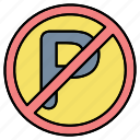 car, forbidden, parking, prohibited icon