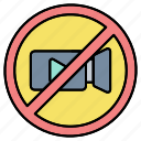 camcorders, camera, filming, forbidden, no, prohibited, video icon
