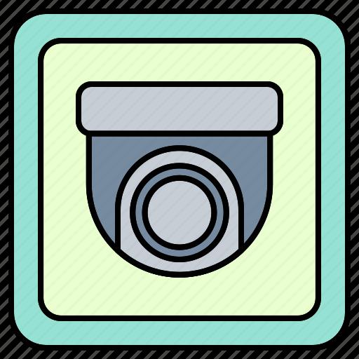 camera, cartoon, cctv, safety, security, sign icon