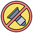 forbidden, no, noise, prohibited, sign, sound, zone