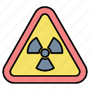 nuclear, radiation, sign, zone icon