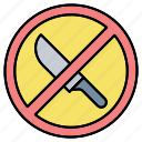forbidden, knife, no, prohibited, sharp, sign, zone