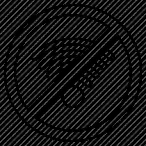 forbidden, prohibited, signal, wifi, wireless icon