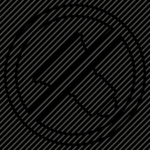 forbidden, no, noise, prohibited, sign, sound, zone icon
