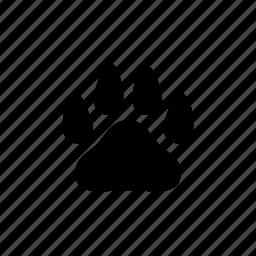 animal, bear, dog, footprint, pet, step, wild icon
