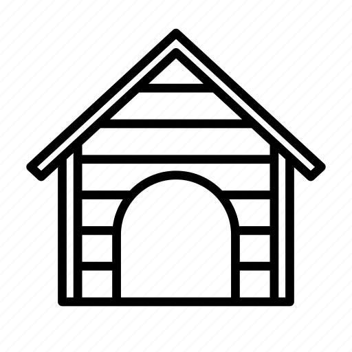 animal, building, dog, house, hut, kennel, pet icon