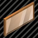 blank, board, cartoon, empty, isometric, signboard, wooden