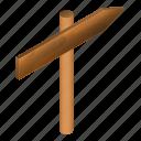 board, cartoon, direction, isometric, signboard, wood, wooden