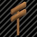 cartoon, direction, isometric, signboard, way, wood, wooden