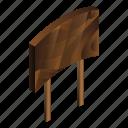 banner, board, cartoon, isometric, welcome, wood, wooden