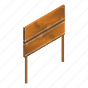 blank, cartoon, decoration, isometric, placard, plank, wood