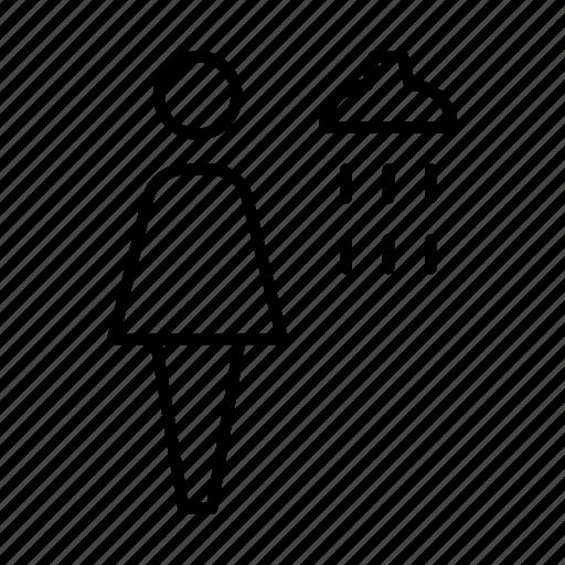 shower, sign, symbolism, symbols, toilet sign, wc, woman icon