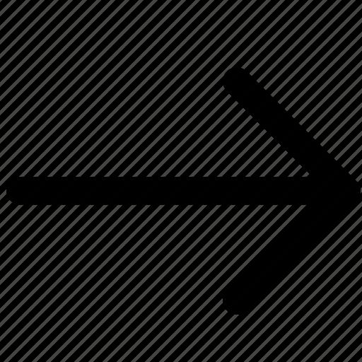 arrow, location, navigation, next, right icon