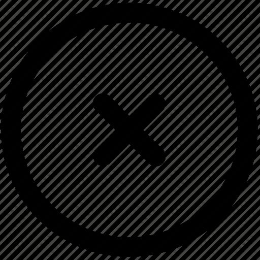 cancel, delete, error, problem, remove, wrong icon