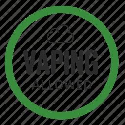 atomizer, drip, electronic cigarette, permission, smoking, vaping, vapor icon