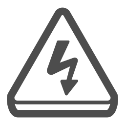alert, attention, caution, electricity, shock icon