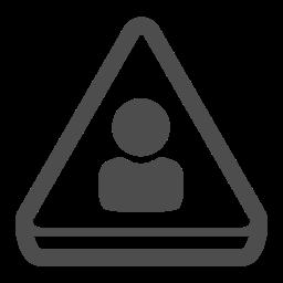account, attention, caution, person, profile, user icon