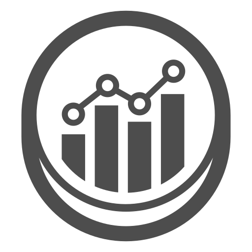 development, graph, growth, optimization, statistics icon