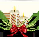 velas, ícone do Natal