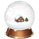 christmas, snowglobe icon