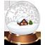 christmas, snowglobe icon