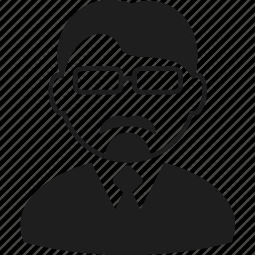 avatar, beard, bearded, character, glasses, man, user icon