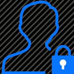 locked, man, user icon