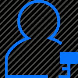 key, user icon