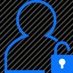 unlocked, user icon