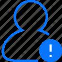 alert, user icon