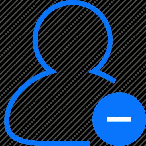 account, female, human, male, man, people, person, profile, remove, user icon