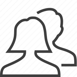 couple, human, users icon