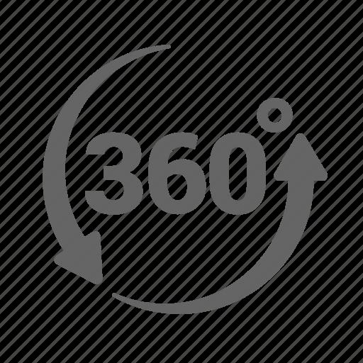 arrow, circle, degrees, rotation, round, sixty, three icon