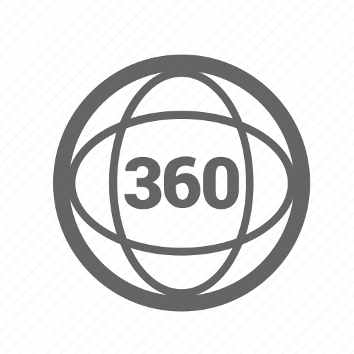circle, panorama, reality, simulation, sixty, three, virtual icon