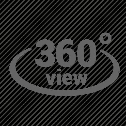 degree, reality, round, sixty, three, view, virtual icon