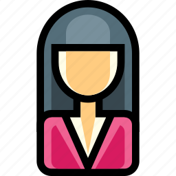 female, office, person, user, woman icon