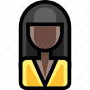 african american, female, office, person, user, woman icon