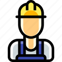 laborer, labourer, male, man, person, work, worker icon